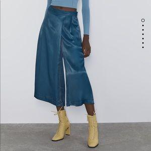 Zara wide leg satin pants